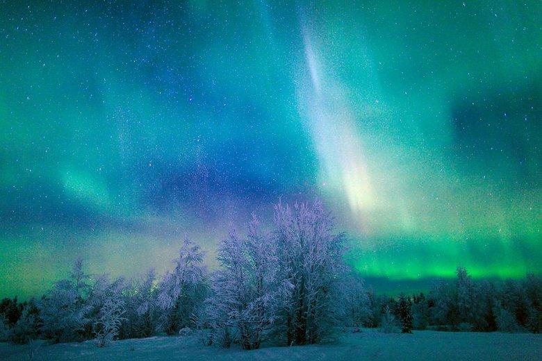 L 39 inverno e l 39 aurora boreale for Sfondi aurora boreale
